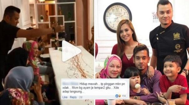 """[Video] """"Bagi Makan Ayam Berseni Macam Ni Jugak…"""" -Hidangan Kek Raf Di'baling' Atas Meja, Dato' Fazley Yaakob Dikritik Kurang Beradap?"""
