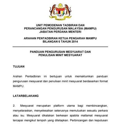 Panduan Terkini Menulis Minit Mesyuarat Khabar Malaysia
