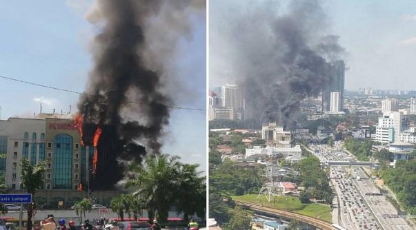 [Video] Bangunan KWSP terbakar