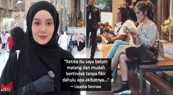 """Saya Minta Maaf Sebab Pernah Jadi Contoh Tak Baik Kepada Masyarakat…"" – Uqasha Senrose"