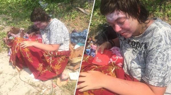 'Lebih dari 4 hari dia tinggal di pantai tu dalam keadaan lapar'