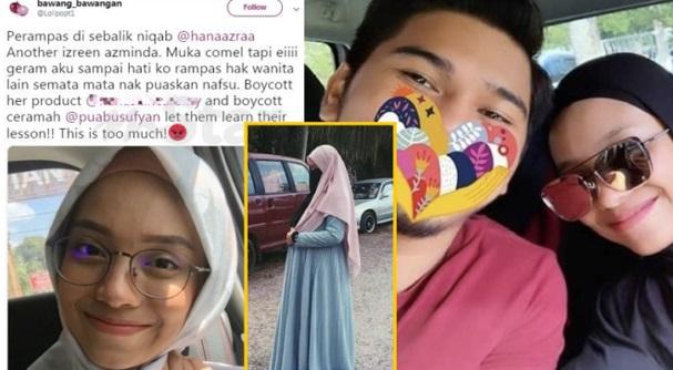 """""""Perampas di sebalik niqab. Muka comel tapi eiiii.."""" – Identiti isteri baru PU Abu didedahkan, Ini yg berlaku bila netizen bersuara"""