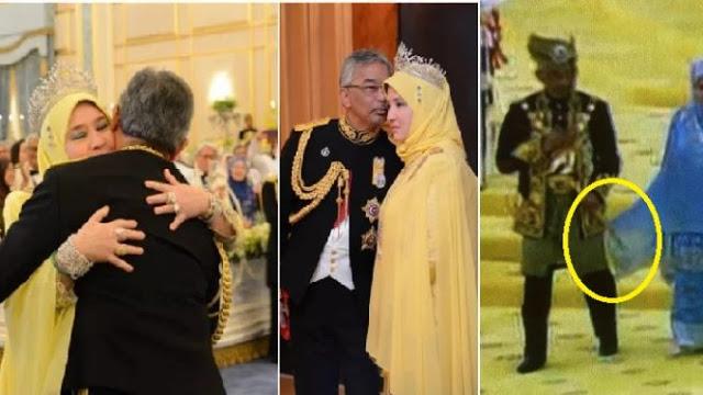 Tweet Sweet bila Selendang Raja Permaisuri Agong Tersangkut Dekat Baju Agong