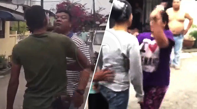 (Video) 'Hang tampaq aku?! Aku Report!' - Jiran bergaduh sebab anak kurang ajar