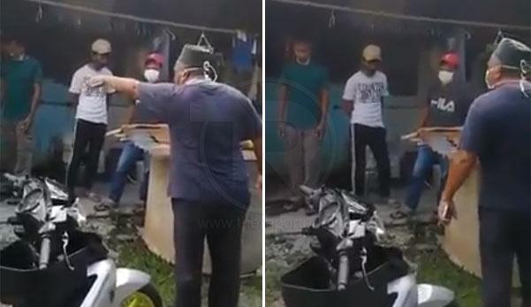 (Video) 'Jangan lari! Aku lempar dengan tukul besi ni kang!' - 6 remaja ingkar PKP dicekup penduduk kampung