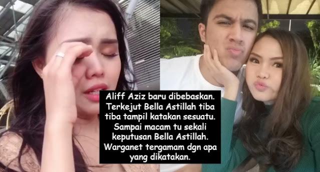 Aliff Aziz baru dibebaskan. Terkejut Bella Astillah tiba tiba tampil katakan sesuatu. Sampai macam tu sekali keputusan Bella Astillah. Warganet tergamam dgn apa yang dikatakan.