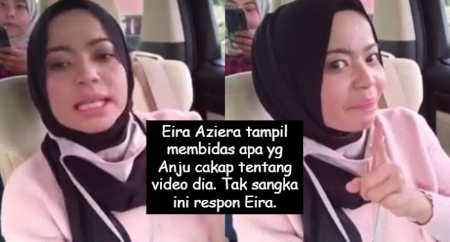 Eira Aziera tampil bidas Anju balik tentang apa yg Anju cakap dalam video dia. Apa yg Eira bidas nampak mcm tegang. Warganet tergamam Eira cakap sampai mcm tu sekali.